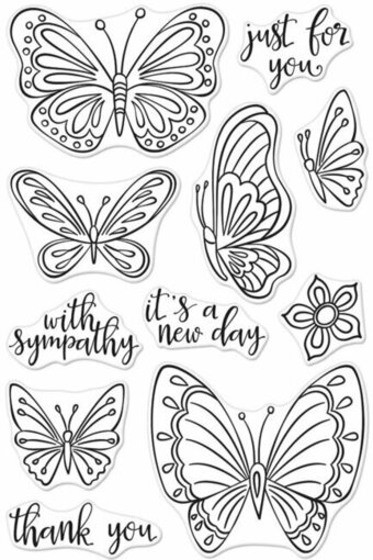 New Day Butterflies - Clear Stamp