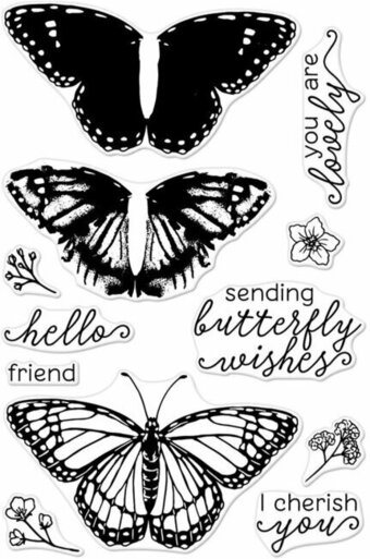 Color Layering Monarch Butterfly - Clear Stamp