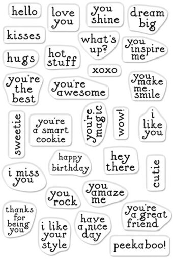 Hero Greetings Mini Messages - Clear Stamp