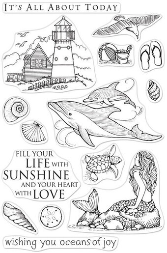 Beach and Sea - Clear Stamp