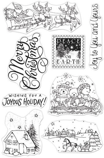 Winter Joy - Christmas Clear Stamp