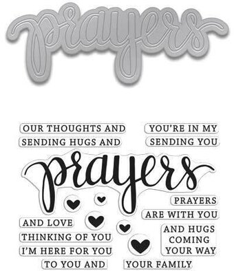 Prayers - Clear Stamps With Matching Die