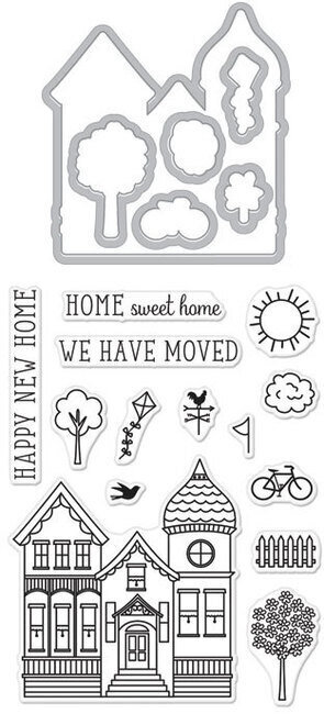 House - Clear Stamps With Matching Dies