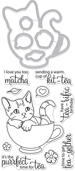 Kit-Tea - Clear Stamps and Dies
