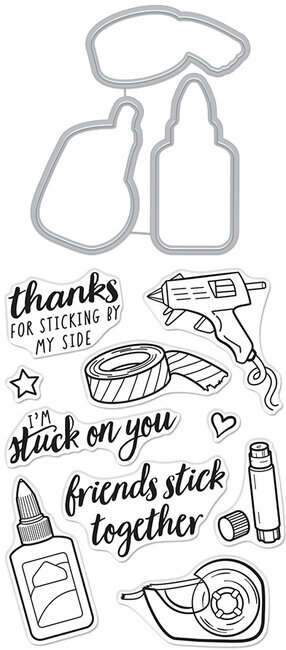 Stick Together - Clear Stamps with Matching Die
