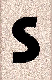 Lowercase Letter S - Rubber Stamp