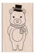 Winter Bear - Rubber Stamp