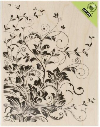Leafy Vines Background - Rubber Stamp