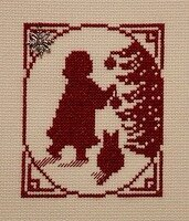 Little Girl With Ornament - Cross Stitch Pattern
