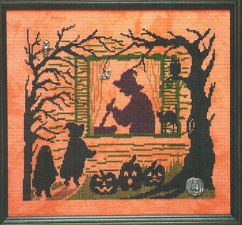 Watching the Witch - Scary Night 6 - Cross Stitch Pattern