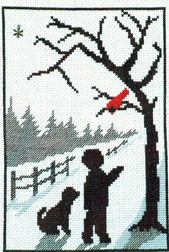Cardinal Walk - Cross Stitch Pattern