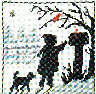 Walk to the Mailbox - Cross Stitch Pattern