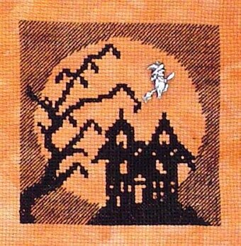 Haunted House in the Moon (Halloween Silhouette)