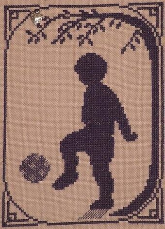 Soccer Player - Cross Stitch Pattern