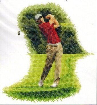 Golfer - Fairway - Cross Stitch Pattern
