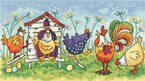 Happy Hens - Cross Stitch Pattern