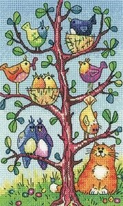 Bird Watching - Birds of a Feather - Cross Stitch Pattern