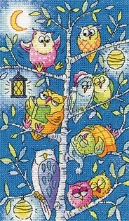 Tree of Owls - Birds of a Feather - Cross Stitch Pattern