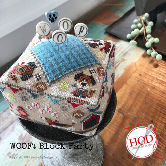 Woof - Block Party - Cross Stitch Pattern