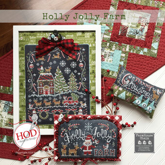 Holly Jolly Farm - Cross Stitch Pattern