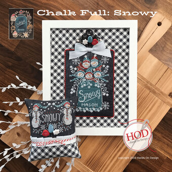 Snowy - Chalk Full - Cross Stitch Pattern
