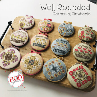 Well Rounded - Perennial Pinwheels - Cross Stitch Pattern