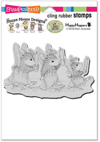 Angel Procession - House Mouse Cling Rubber Stamp