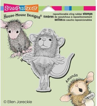 Ballerina Baby - House Mouse Cling Rubber Stamp