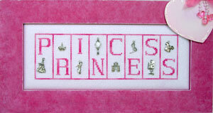 Princess (with Charms) - Cross Stitch Pattern