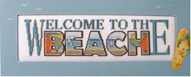 Welcome To The Beach - Cross Stitch Pattern