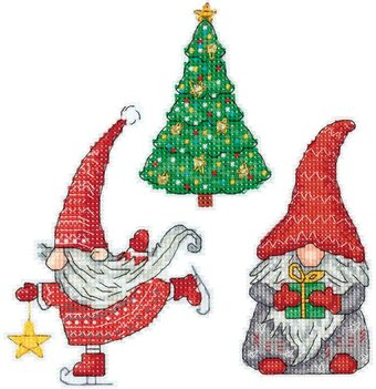 New Year Gnomes - Christmas Ornaments Cross Stitch Kit