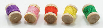 Spools Of Thread - 5 Pieces - Dollhouse Miniature
