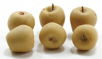 Yellow Apples - 6 Pieces - Dollhouse Miniature