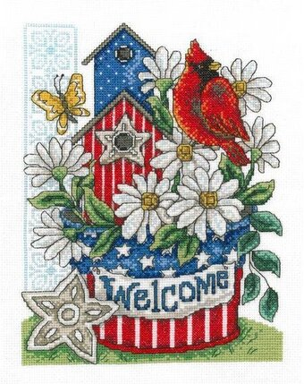 Patriotic Welcome - Cross Stitch Kit