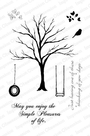 Solid Tree - Cling Rubber Stamp