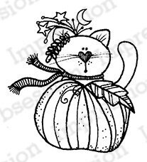 Pumpkin Kitty - Thanksgiving Cling Stamp