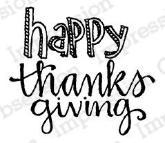 Happy Thanks - Thanksgiving Cling Stamp