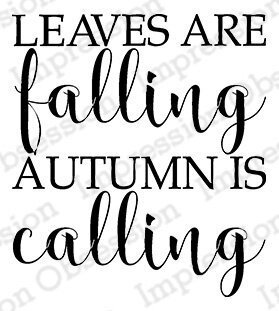 Autumn is Calling - Cling Stamp