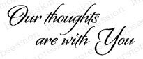 Our Thoughts - Cling Rubber Stamp