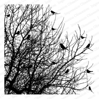 Cover-a-Card Birds on Trees - Cling Rubber Stamp