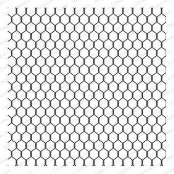 Chicken Wire - Cling Rubber Stamp