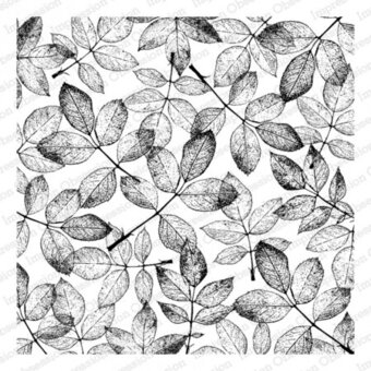 Rose Leaves Background - Cling Rubber Stamp