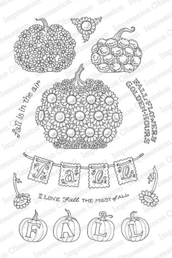 Pumpkin Flowers - Clear Stamp