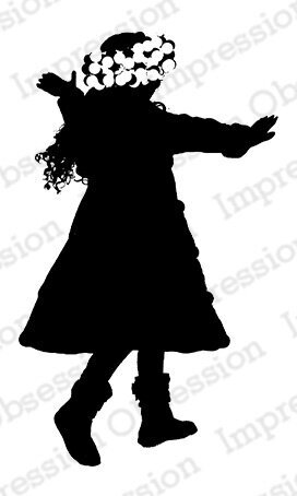 Snow Twirl Silhouette - Cling Stamp