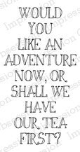 Adventure Now - Cling Rubber Stamp