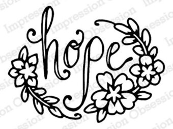 Hope - Christian Cling Rubber Stamp