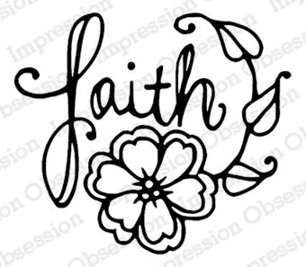 Faith - Christian Cling Rubber Stamp