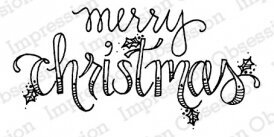 Merry - Christmas Cling Stamp