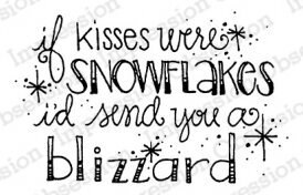 Snowflake Kisses - Christmas Cling Stamp