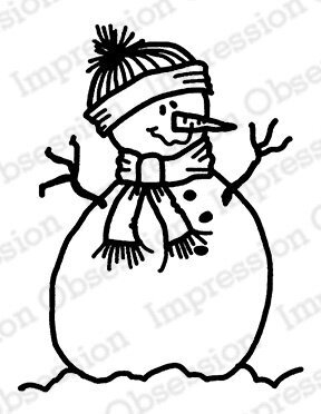 Snowman - Cling Rubber Stamp